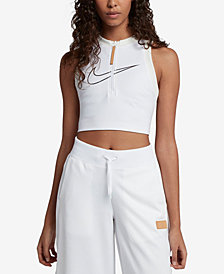 Nike Sportswear Mesh-Back Cropped Tank Top
