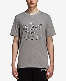 adidas Men's Originals Camo-Print Treifoil T-Shirt