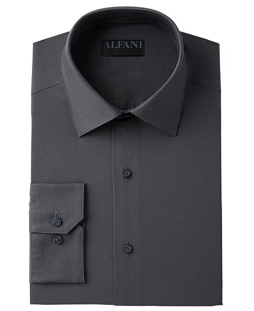 Alfani AlfaTech by Men's Big & Tall Solid Dress Shirt, Created For Macy's