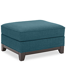 Keegan Fabric Ottoman, Created for Macy's