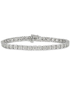 Diamond Tennis Bracelet 1 4 Ct T W In Sterling Silver