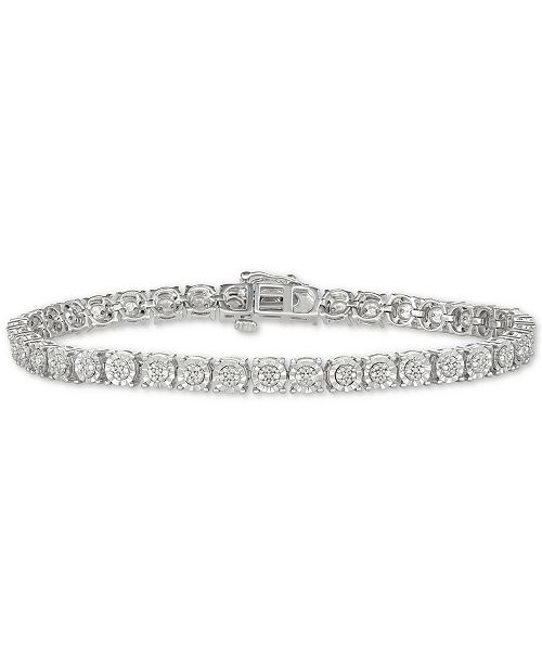 Macy's Diamond Tennis Bracelet (1/4 ct. t.w.) in Sterling Silver