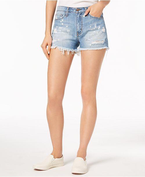 Flying Monkey Cotton Bleached Denim Cutoff Shorts