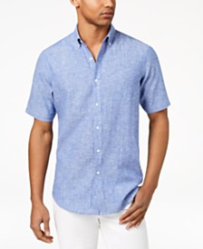 Club Room Men's Creston Linen Shirt, Created for Macy's