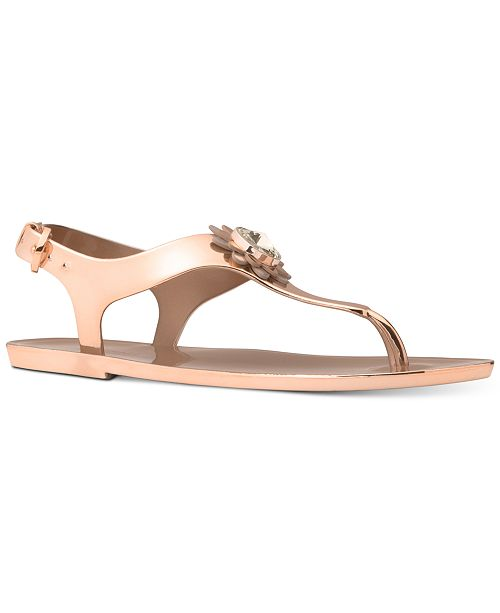 7b603ec882ab Michael Kors Women s Miley Jelly Flat Sandals   Reviews - Sandals ...