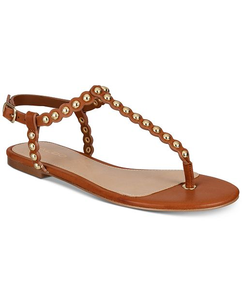 051b7348535 ALDO Balata Studded Thong Flat Sandals   Reviews - Sandals   Flip ...
