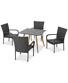 Santa Barbara 5-Pc. Outdoor Dining Set, Quick Ship
