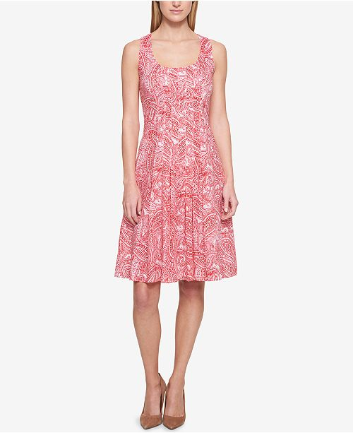 Tommy Hilfiger Printed Fit & Flare Dress