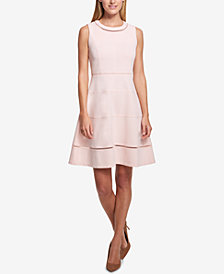 Tommy Hilfiger Scuba Crepe Fit & Flare Dress