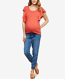 Jessica Simpson Maternity Chambray Jogger Pants