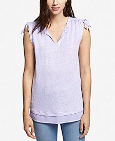 Sanctuary Nora Tie-Detail Contrast T-Shirt