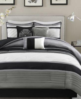 Blaire 7-Pc. Faux-Silk Queen Comforter Set