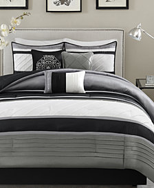 Madison Park Blaire 7-Pc. Faux-Silk Queen Comforter Set