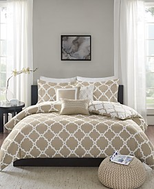 Madison Park Essentials Merritt Reversible 6-Pc. King/California King Duvet Cover Set