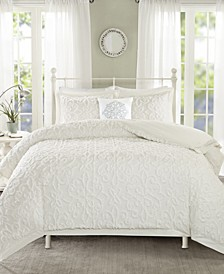 Sabrina 4-Pc. Tufted Cotton Chenille King/California King Comforter Set