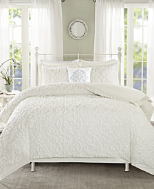 Madison Park Sabrina 4-Pc. Tufted Cotton Chenille Comforter Sets
