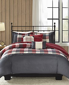 Madison Park Ridge 6-Pc. Full/Queen Duvet Cover Set