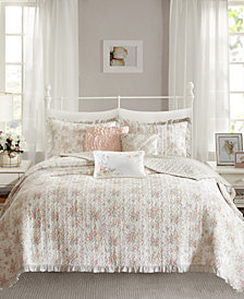 Madison Park Serendipity Cotton 6-Pc. Full/Queen Coverlet Set