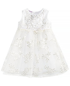 Blueberi Boulevard Baby Girls Sequinned Embroidered Dress
