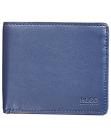 Hugo Boss Men's Navy Leather Bi-Fold Wallet