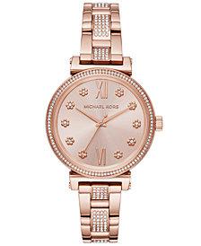 Michael Kors Women's Sofie Rose Gold-Tone Stainless Steel Bracelet Watch 36mm