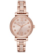 e5cd8eefc196 Michael Kors Women s Sofie Rose Gold-Tone Stainless Steel Bracelet Watch  36mm