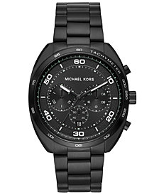 Michael Kors Men's Chronograph Dane Black Stainless Steel Bracelet Watch 43mm