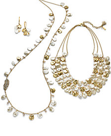 lonna & lilly Two-Tone Crystal & Imitation Pearl Shaky Jewelry Separates