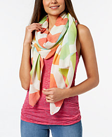 Echo Ombré Chevron Cotton Cover-Up & Scarf