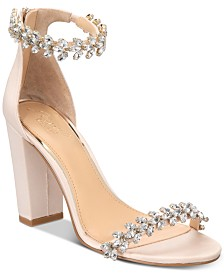 43be6607669e Jewel Badgley Mischka Caroline Embellished Ankle-Strap Evening ...