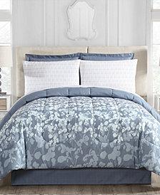 Silhouette Floral 8-Pc. Queen Comforter Set