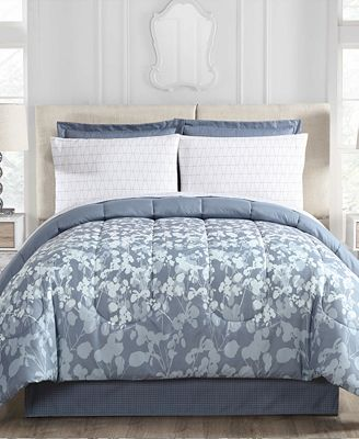 Silhouette Floral 8-Pc. Queen Comforter Set
