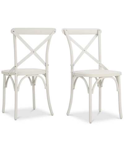 Sophia Outdoor Dining Chairs (Set of 2), Quick Ship