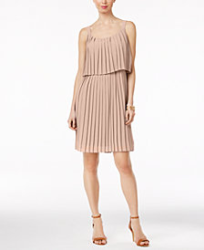 NY Collection Petite Pleated Popover Dress