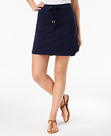 Style & Co Petite Drawstring Skort, Created for Macy's