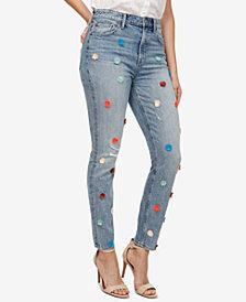 Lucky Brand Bridgette Pom-Pom Skinny Jeans