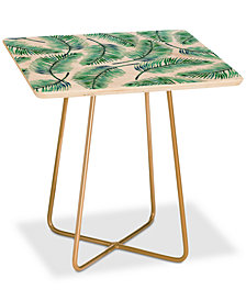 Deny Designs 83 Oranges Palms Watercolor Square Side Table