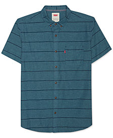 Levi's® Men's Slim-Fit Striped Short-Sleeve Oxford Shirt