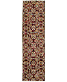 "Macy's Fine Rug Gallery Journey  Vella Red 2'3"" x 8' Runner Rug"