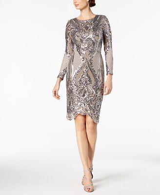 Betsy Adam Sequined Bodycon Dress Dresses Women Macys