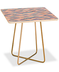 Deny Designs Gabi Peaks and Valleys Square Side Table