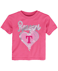 Outerstuff Texas Rangers Unfoiled Love T-Shirt, Toddler Girls (2T-4T)