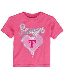 Outerstuff Texas Rangers Unfoiled Love T-Shirt, Toddler Girls (2T-4T)
