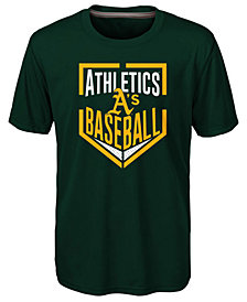 Outerstuff Oakland Athletics Run Scored Poly T-Shirt, Big Boys (8-20)