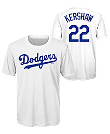 Outerstuff Clayton Kershaw Los Angeles Dodgers Coop Poly Player T-Shirt, Big Boys (8-20)