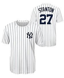 Giancarlo Stanton New York Yankees Coop Poly Player T-Shirt, Big Boys (8-20)