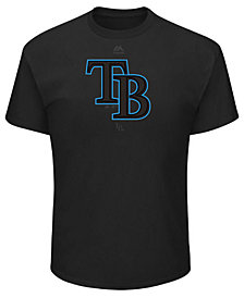 Majestic Men's Tampa Bay Rays Pitch Black Focus T-Shirt