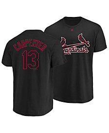 Majestic Men's Chris Carpenter St. Louis Cardinals Pitch Black Player T-Shirt