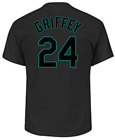 Majestic Men's Ken Griffey Jr. Seattle Mariners Pitch Black Player T-Shirt