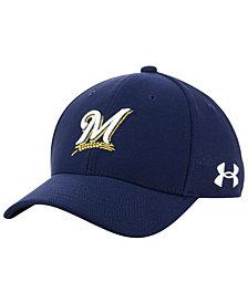 Under Armour Boys' Milwaukee Brewers Adjustable Blitzing Cap